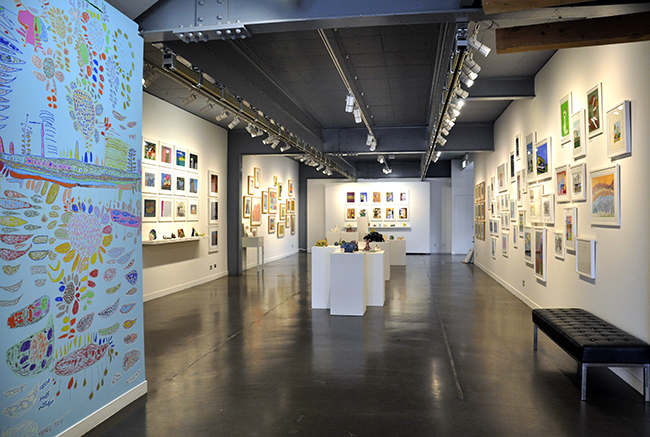 2013 Drawing Wall Commission by Robert Brown and Annual Gala install.