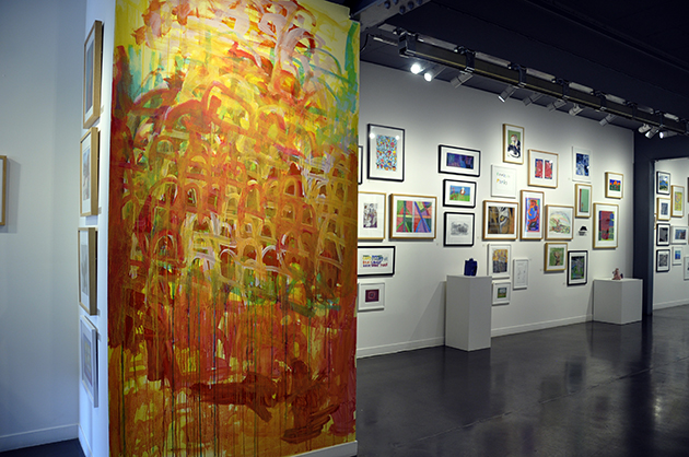 2012 Drawing Wall Commission by Warren O'Brien and Annual Gala install.