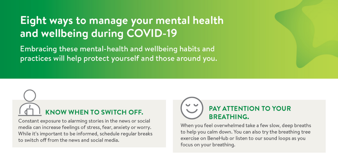 Eight ways to manage your mental health and wellbeing during COVID-19