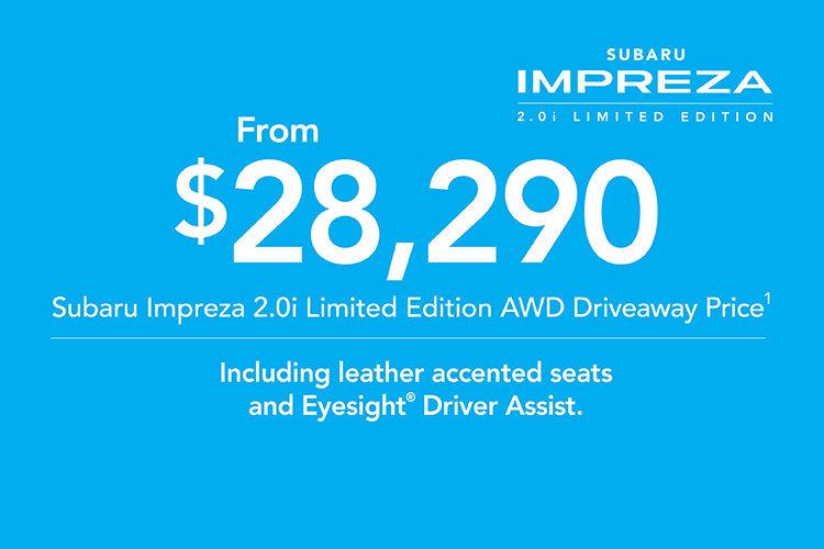 2019 Plate Clearance - Impreza 2.0i AWD Limited Edition