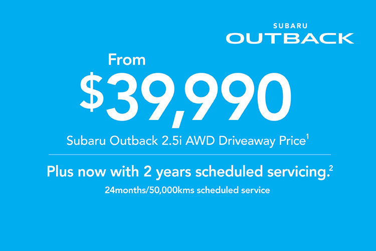 2019 Plate Clearance - Outback 2.5i AWD