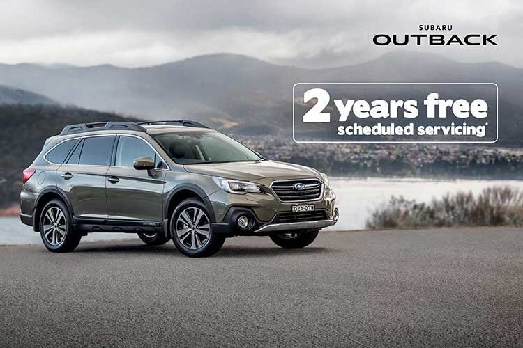 2 Years Scheduled Servicing on Outback 2.5i Premium AWD