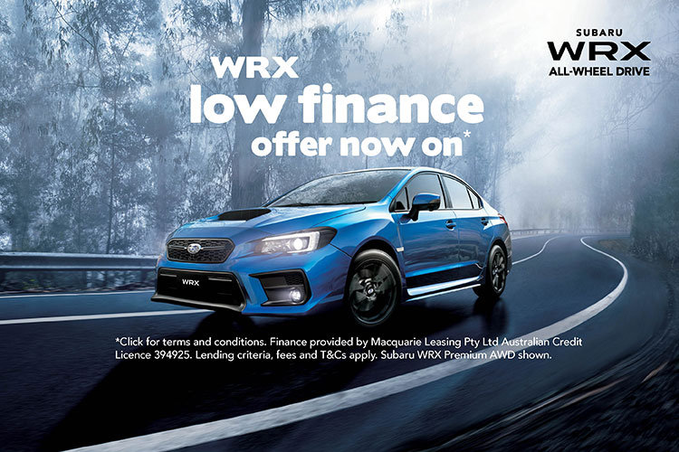 WRX low rate finance offer now on