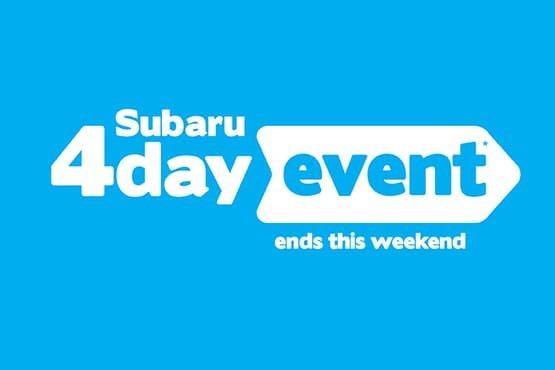 Subaru 4 Day Sale Event