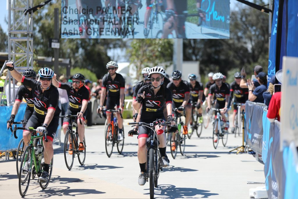 MACA team at the finish line