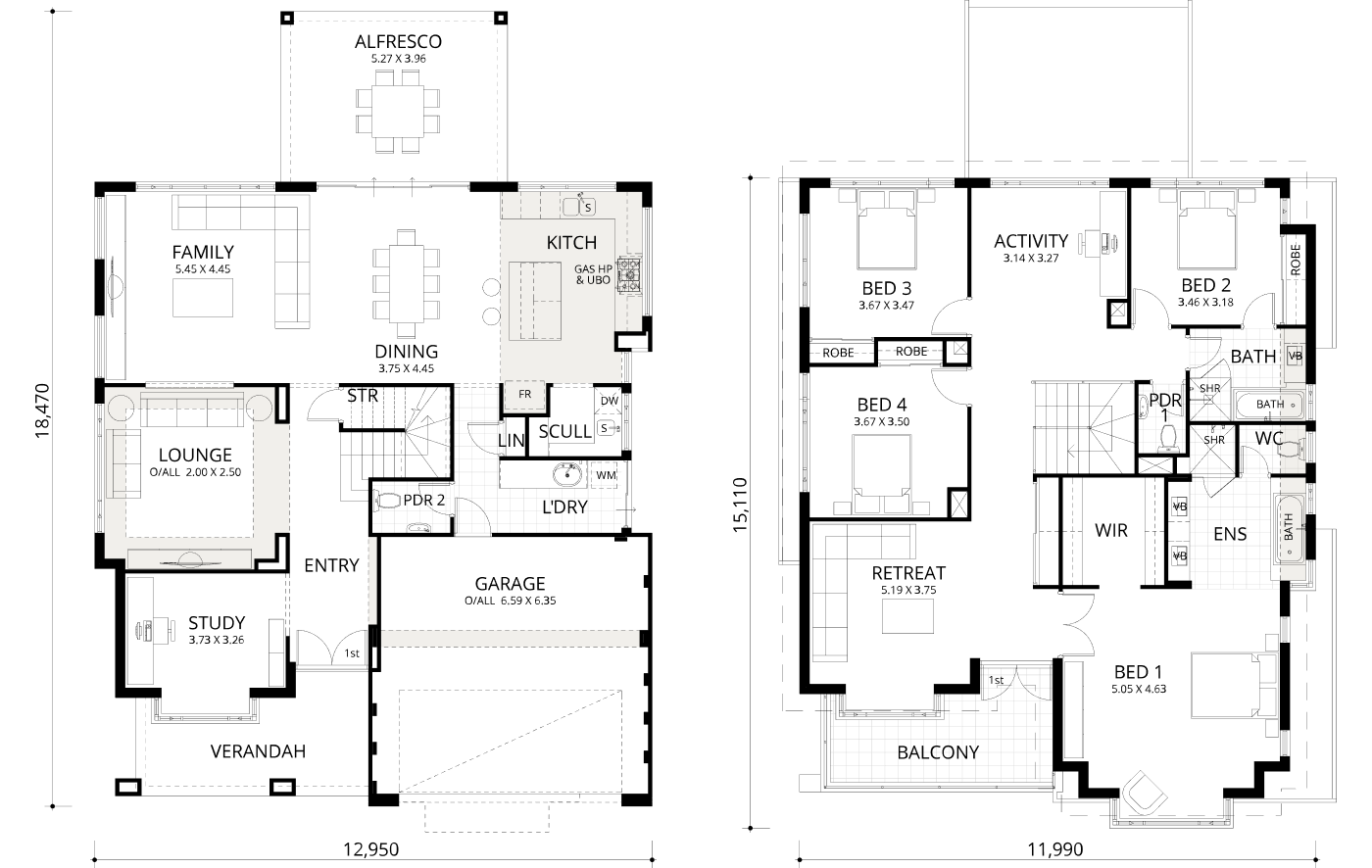 Floorplan for Cape Mill 370