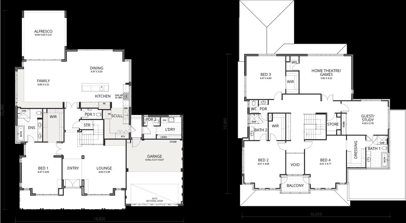 Floorplan for Cottesloe