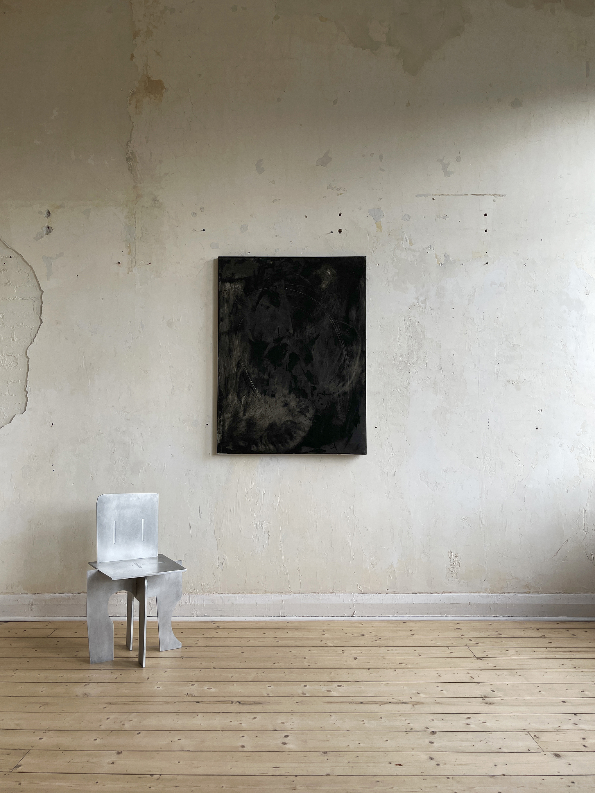 Liam Costar At the above a mindscape Catalogue a anaemic circle of pleasure oil charcoal acrylic 122cmx91cm Situ
