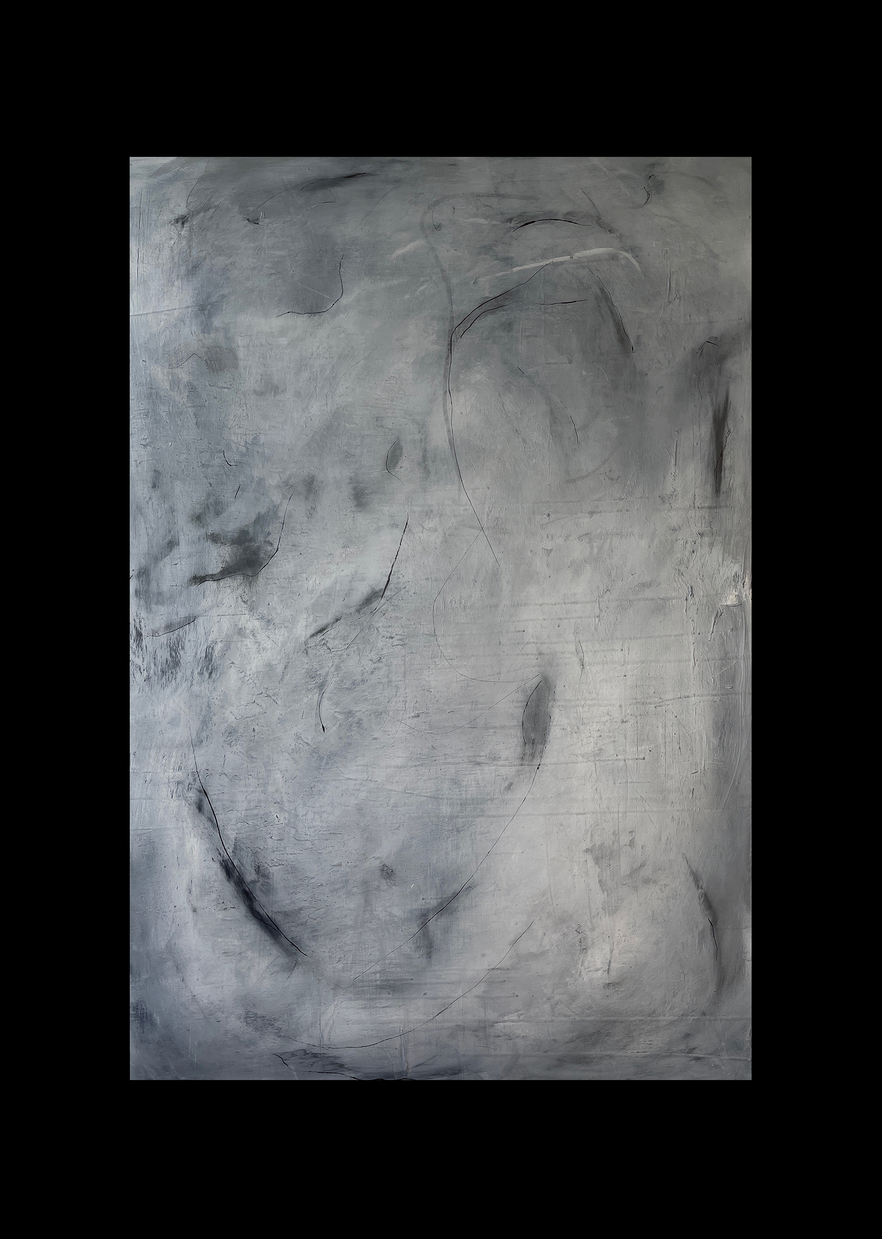 Liam Costar At the above a mindscape Catalogue a haze that breathes oil charcoal acrylic 152cmx110cm Black
