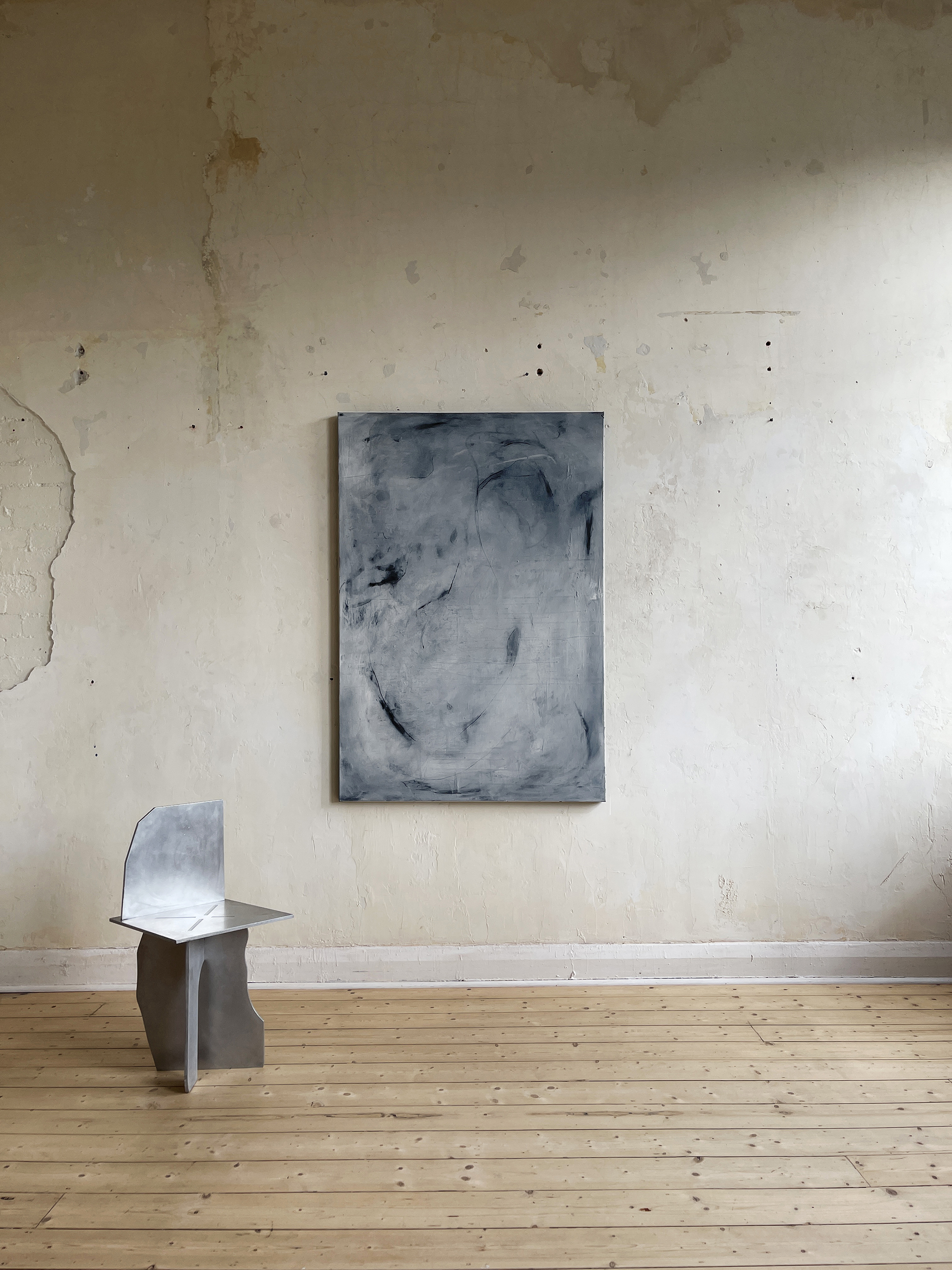Liam Costar At the above a mindscape Catalogue a haze that breathes oil charcoal acrylic 152cmx110cm Situ