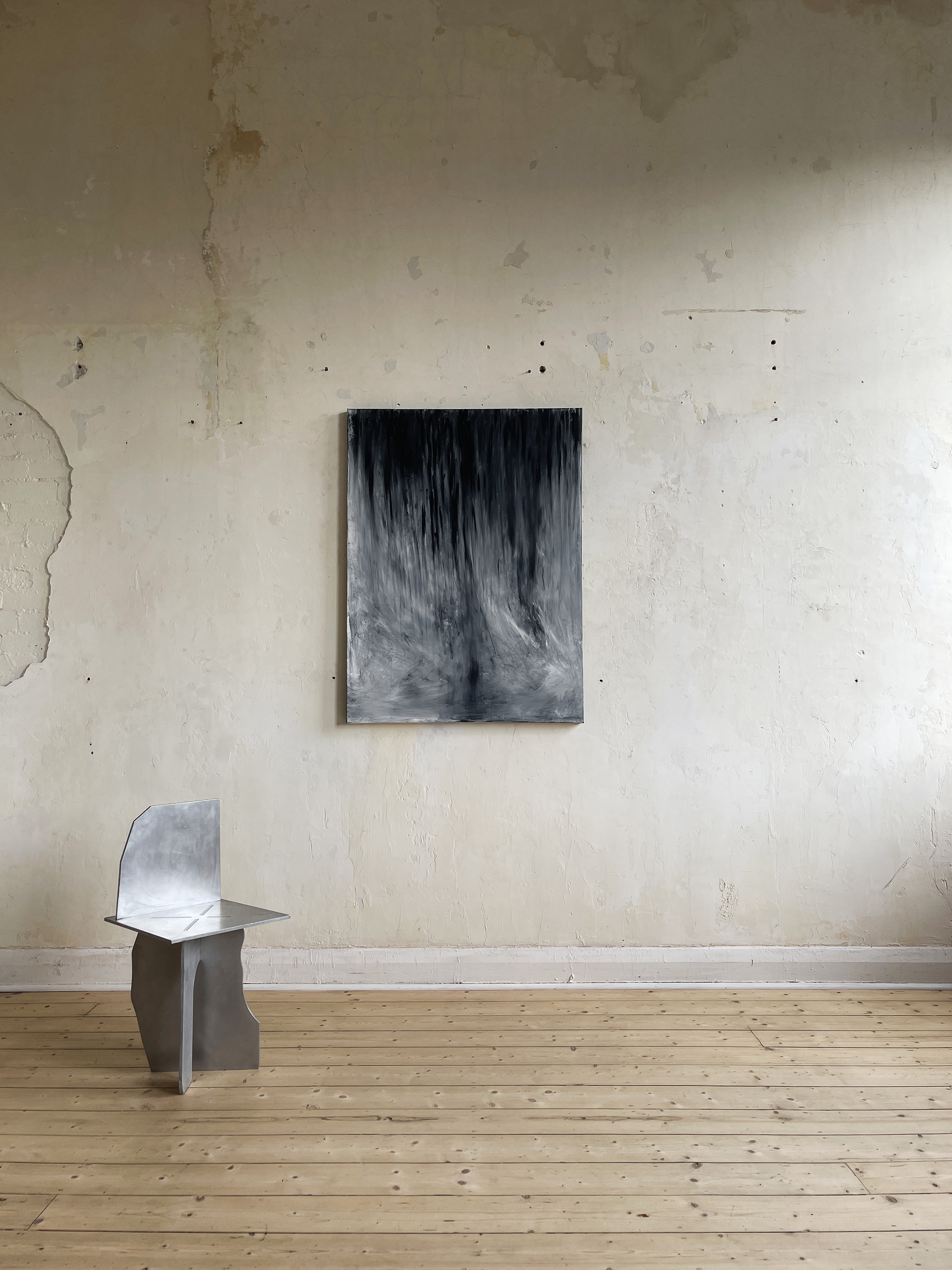 Liam Costar At the above a mindscape Catalogue a place to gather and conform oil 122cmx91cm Situ