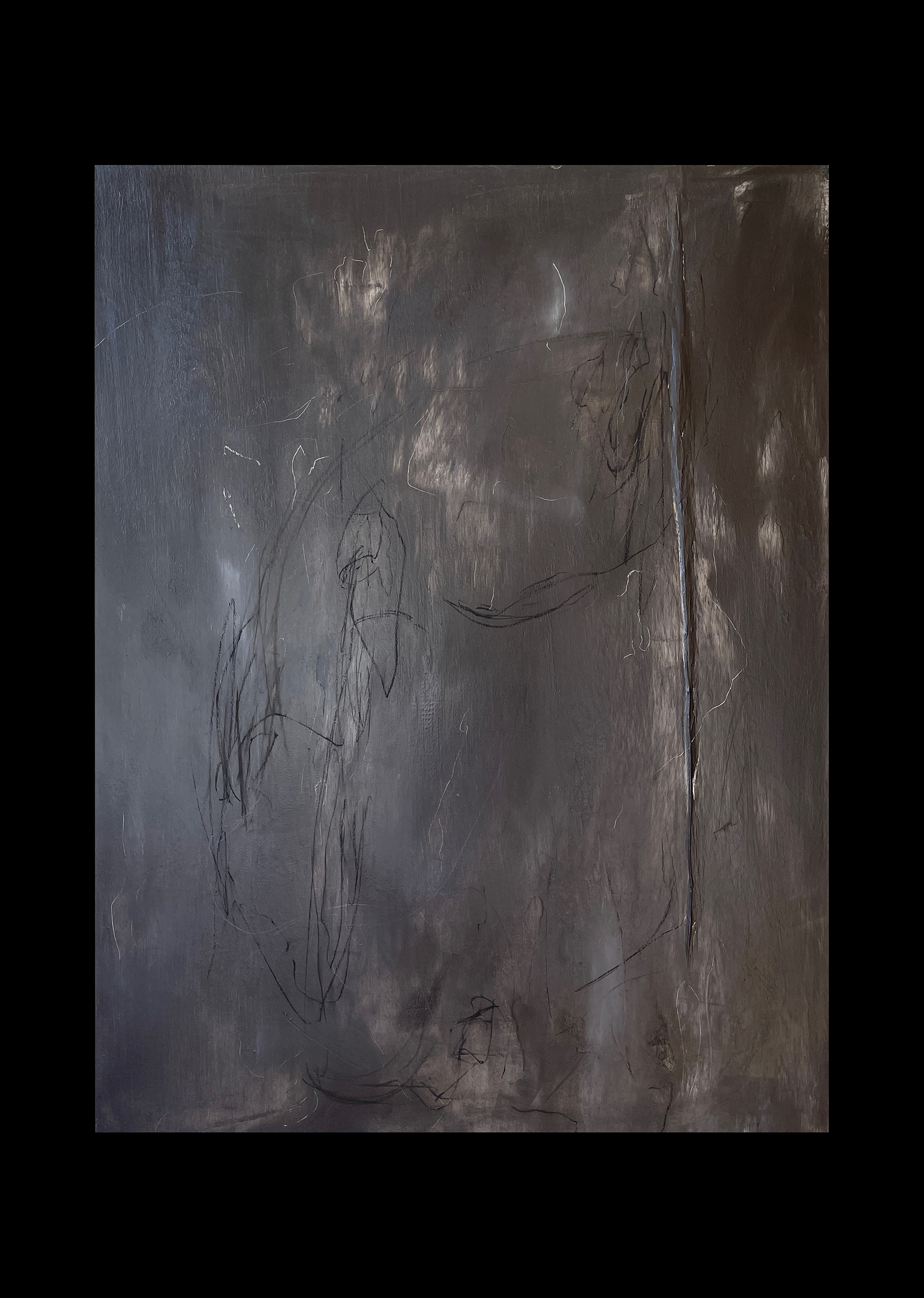 Liam Costar At the above a mindscape Catalogue a refusal of truths Oil charcoal 122cmx91cm Black
