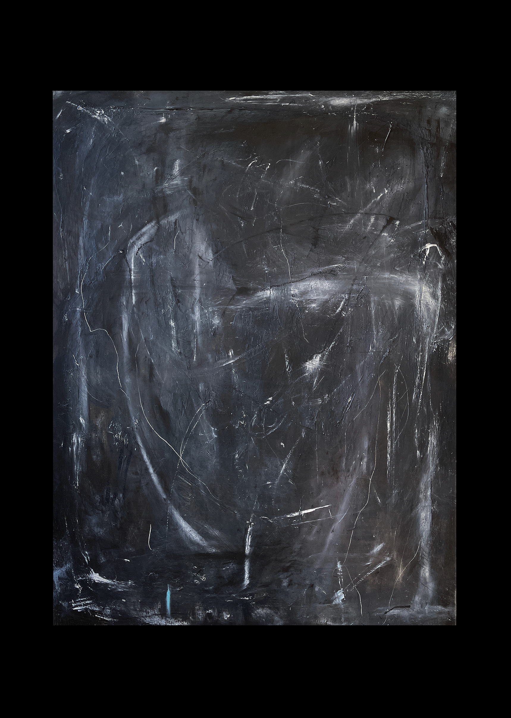 Liam Costar At the above a mindscape Catalogue a time of solace in matrimony oil acrylic 122cmx91cm Blcak