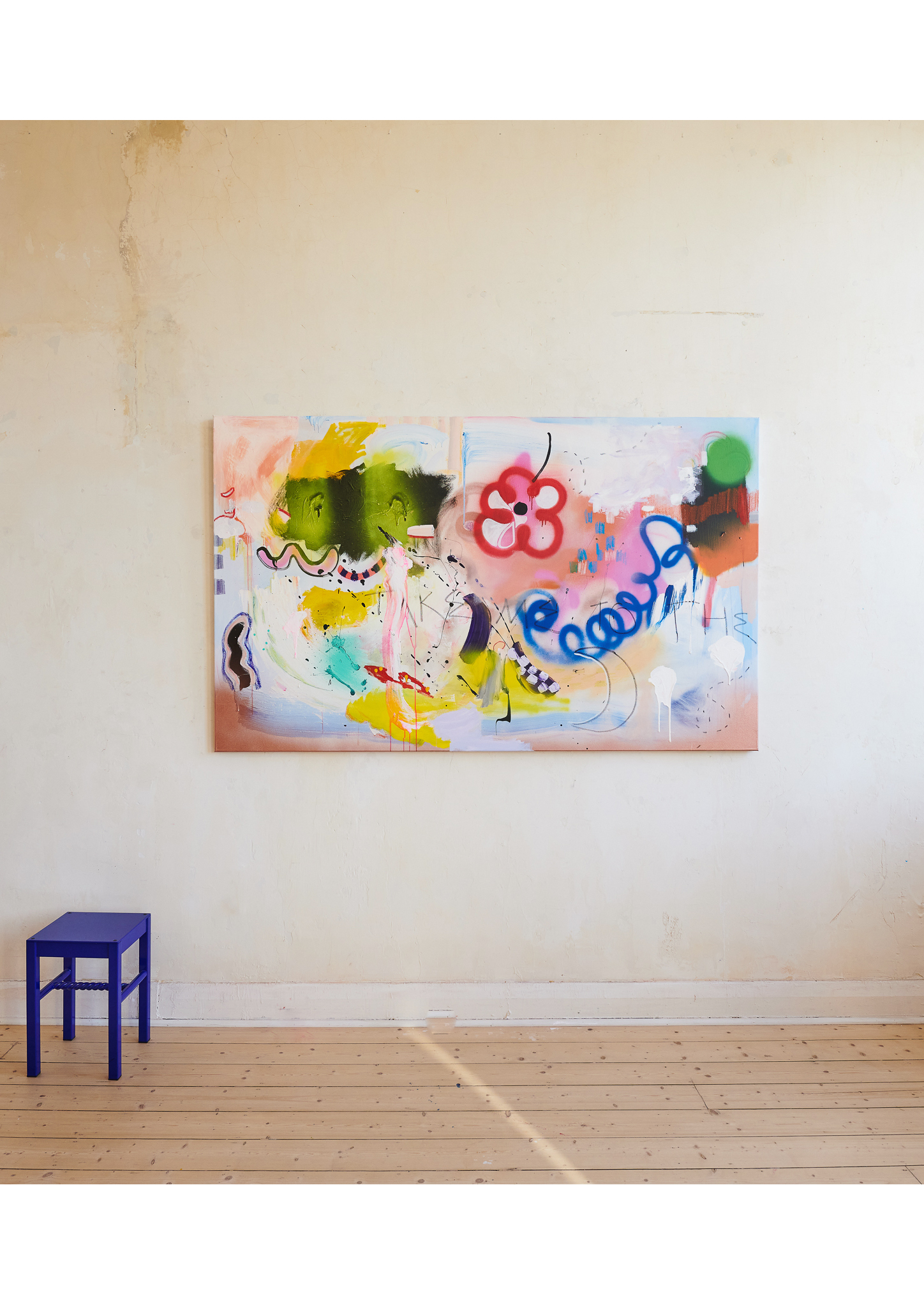 Marisa Mu At the above I Am Ready Take Me To The Moon 198cm x 122cm acrylic and oil pastels on canvas 3