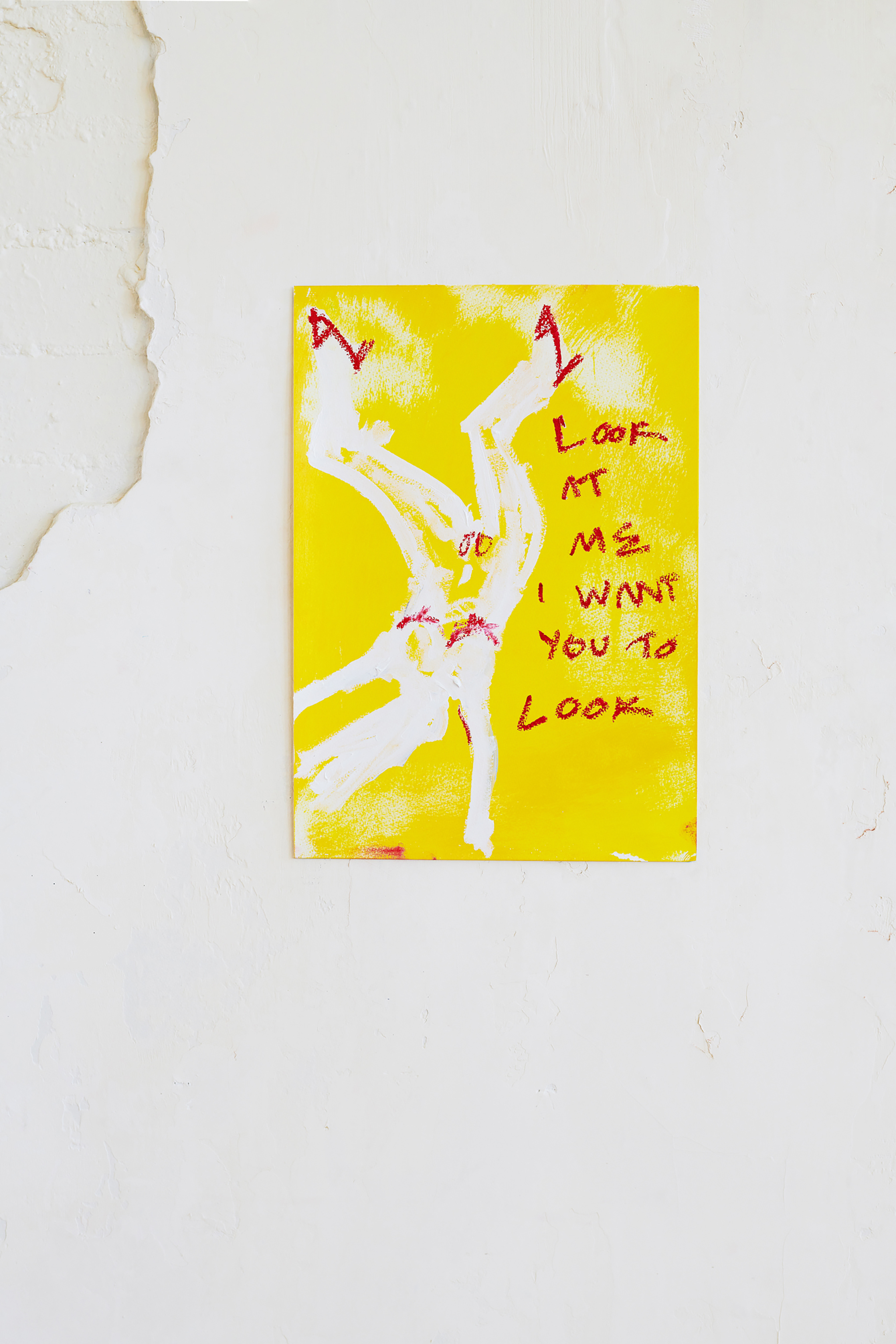 Marisa Mu At the above I Love It When You Give Me Attention 29 7cm x 42cm acrylic and oil pastels on coldpress paper