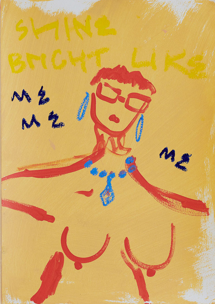 Marisa Mu At the above Shine Brightly Like Me Me Me 29 7cm x 42cm acrylic and oil pastels on coldpress paper Crop