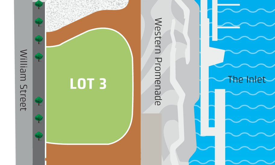 Lot 3 at Elizabeth Quay event space map.