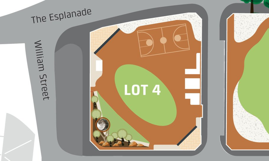 Lot 4 at Elizabeth Quay event space map