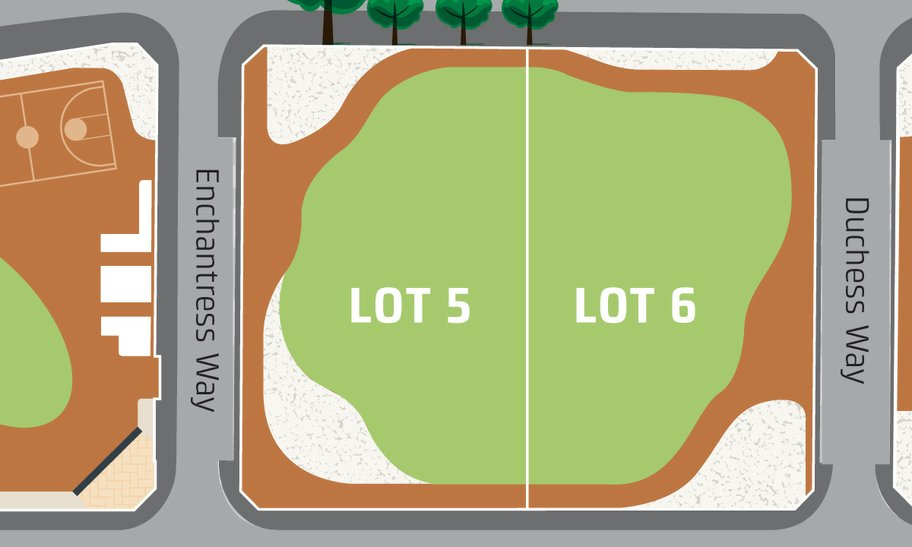 Lot 5 & 6 at Elizabeth Quay event space map.
