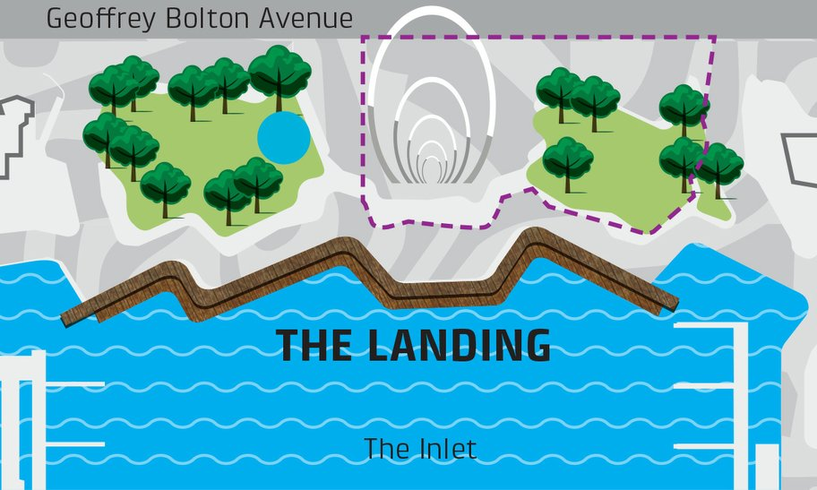Map of The Landing at Elizabeth Quay event space map.