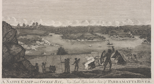 Aboriginal camp at Cockle Bay c 1812