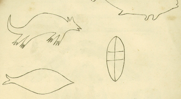 Detail from an illustration of the engravings