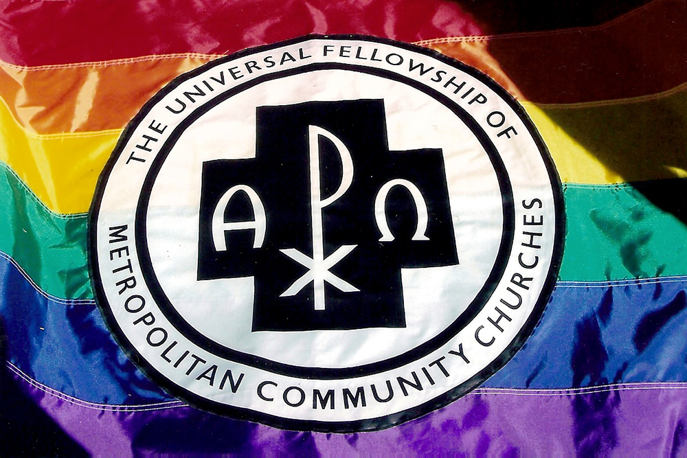 Banner with the emblem for The Universal Fellowship of Metropolitan Community Churches c201