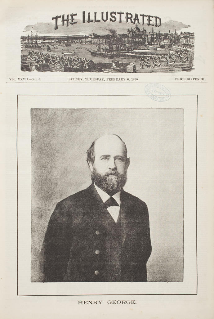 Henry George on the front page of theIllustrated Sydney News