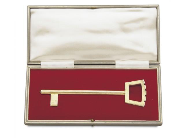 Ceremonial brass key