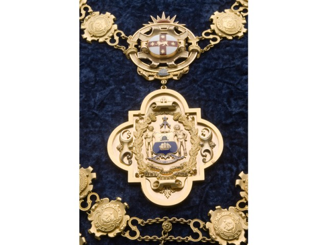 Lord Mayor's robes and chainof office