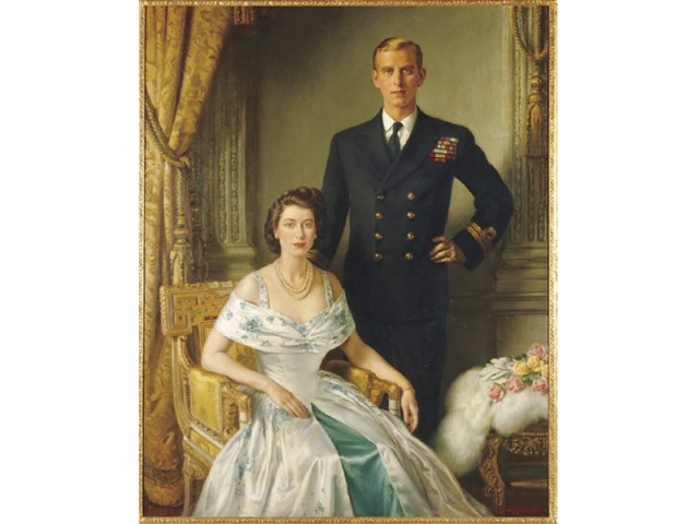 Their Royal Highnesses, Princess Elizabeth, Duchess of Edinburgh and the Duke of Edinburgh