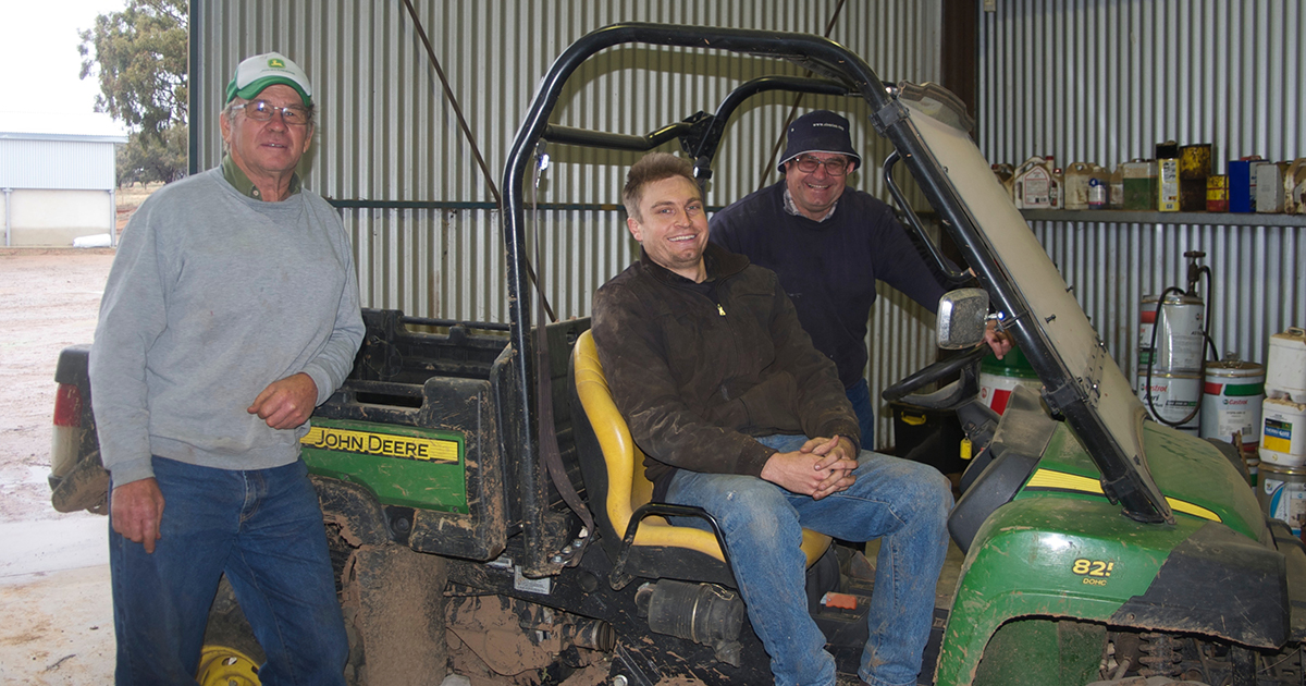Brothers Malcolm and Des Kohlhagen along with Malcolm's son, Adrian who has recently returned to the farm, have developed and implemented a comprehensive weed management program for their 100 per cent cropping operation in southern NSW.
