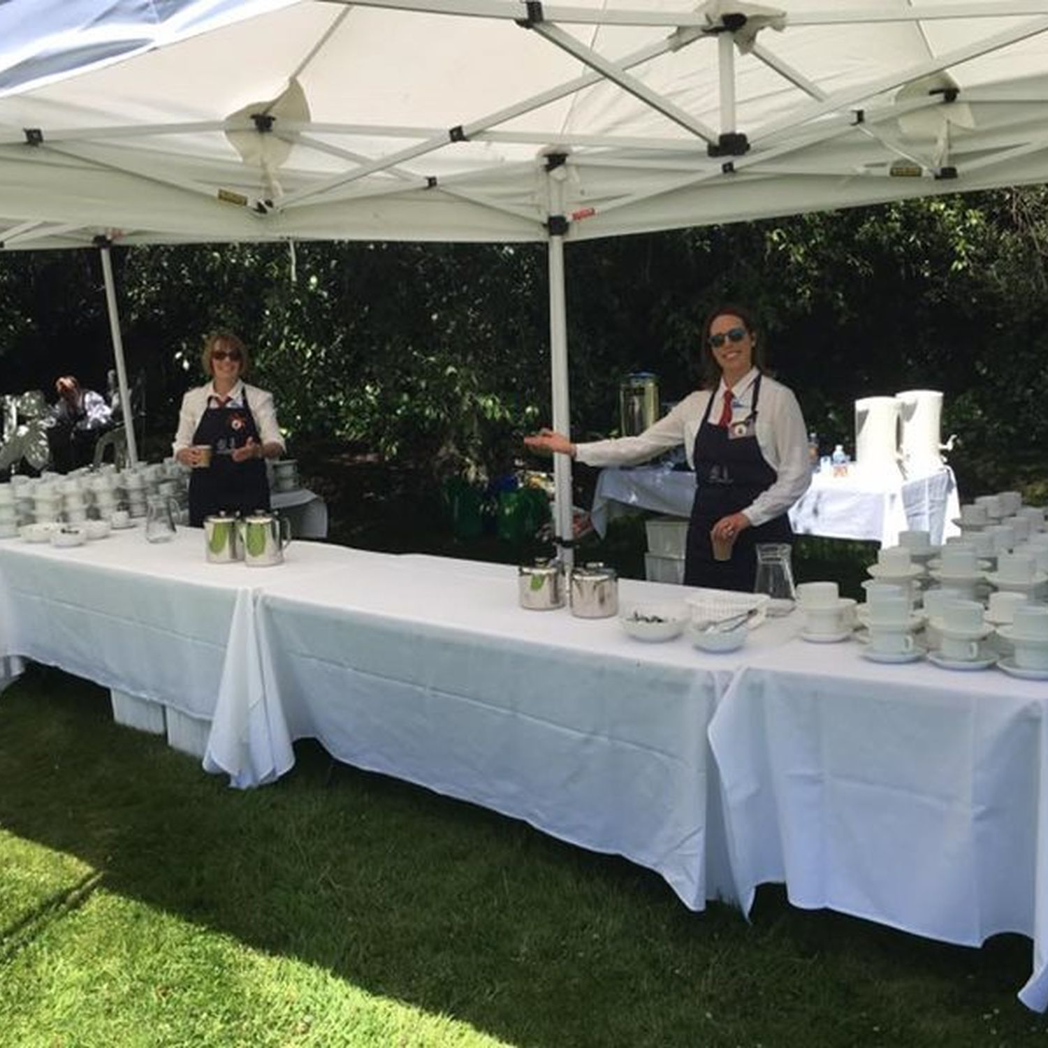 Canberra Luncheon preparation with staff