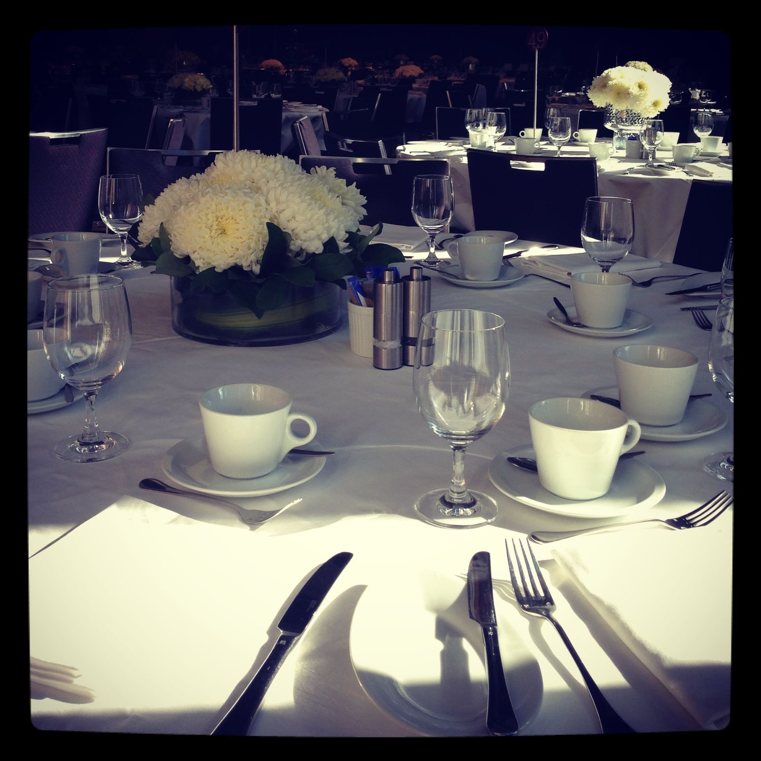 Mothers' luncheon table setting