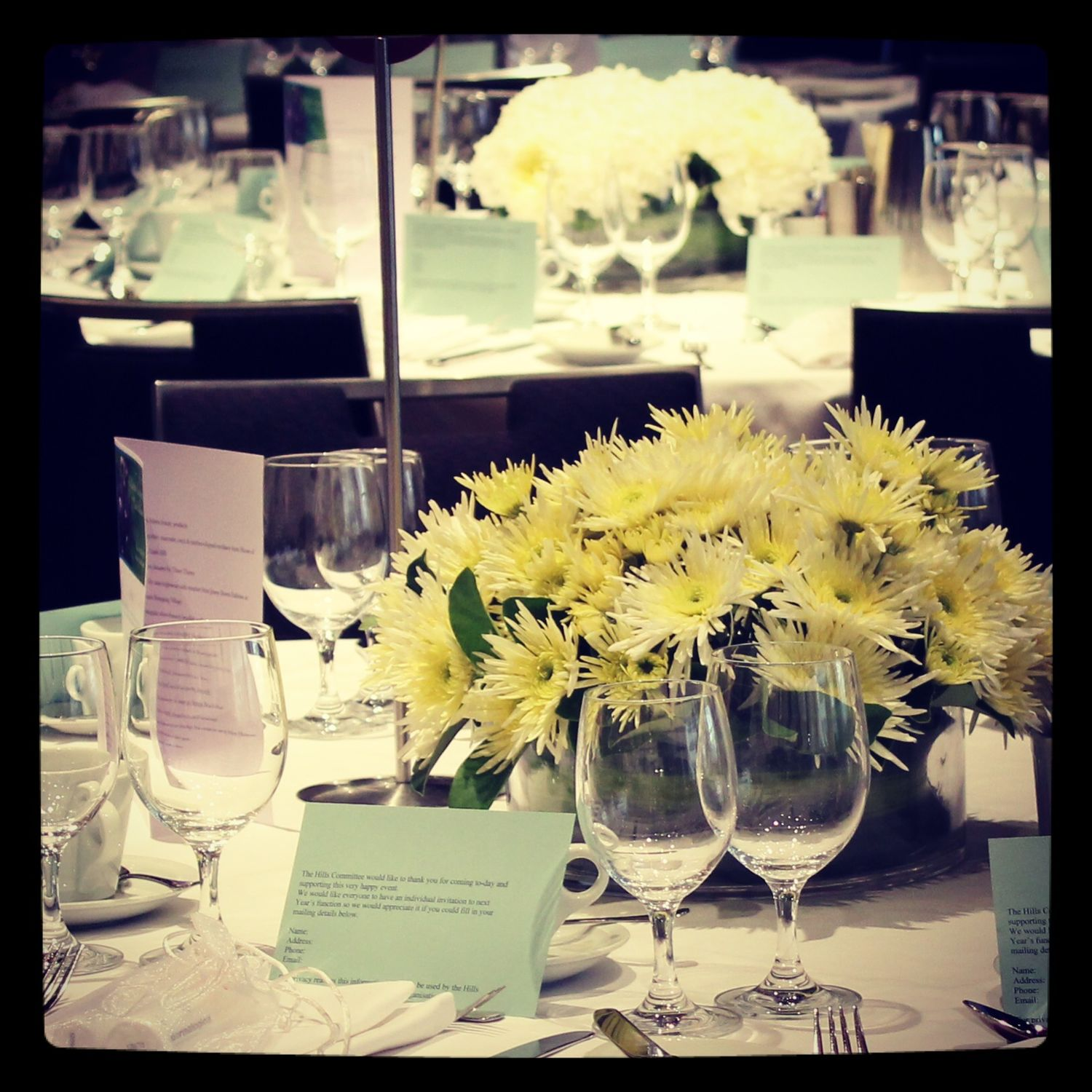 Mothers' luncheon flowers
