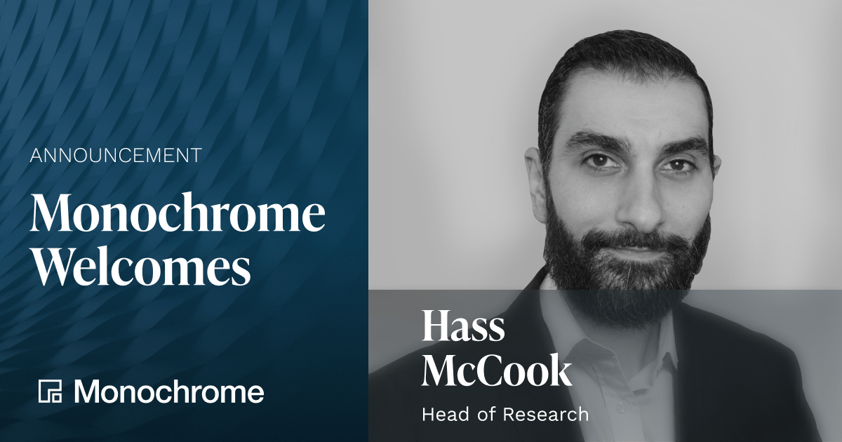 Monochrome Research Adds Bitcoin Industry Expert Hass McCook