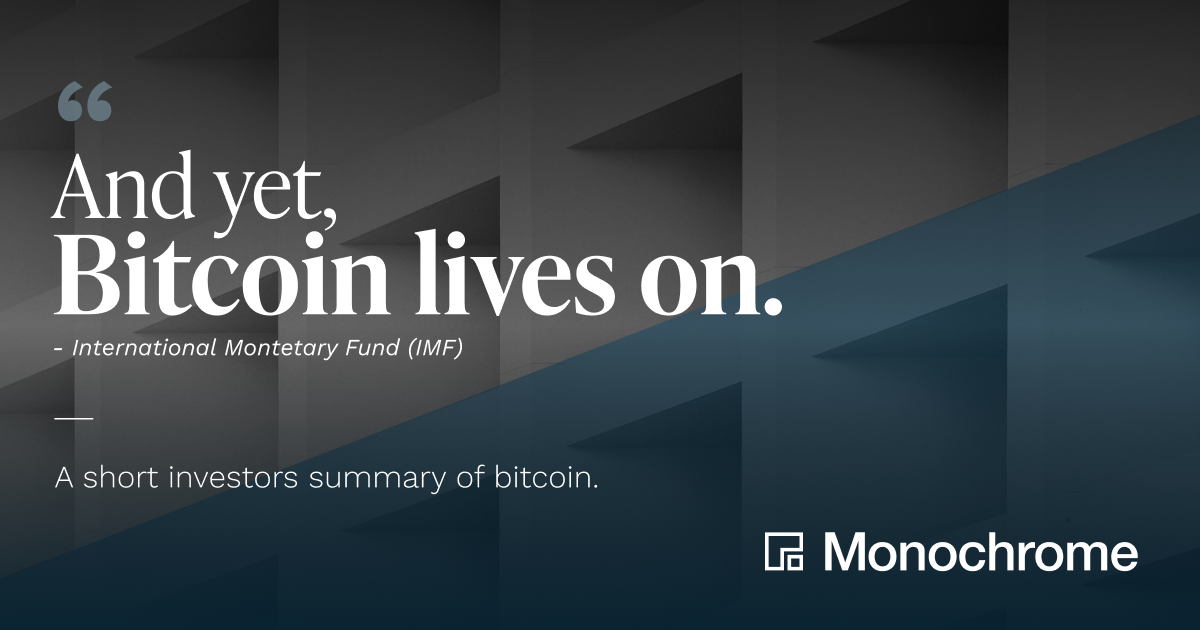 """""""And Yet, Bitcoin Lives On"""" - A Short Investors Summary of Bitcoin"""