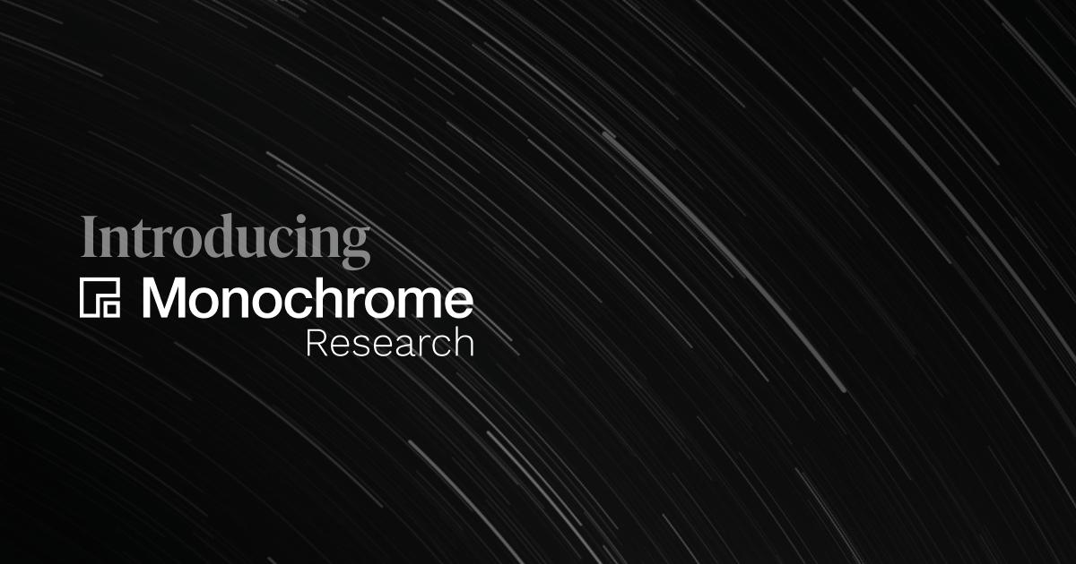 Monochrome Launches Specialist Digital Asset Research Division