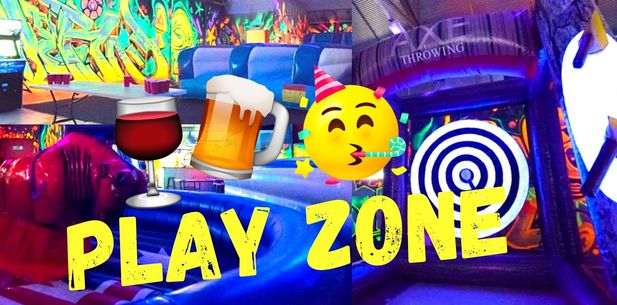 PLAY ZONE! Mechanical Bull, Drinks (Shot on Arrival) Jumping Castle!