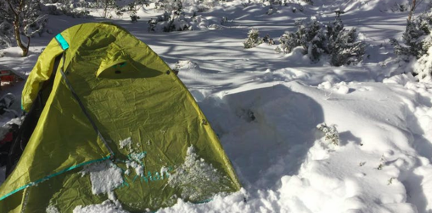 Snow Camping – Mt St.Gwinear