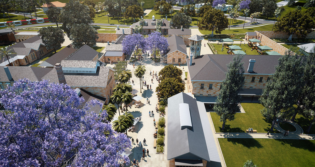 Artist's impression of the Cumberland Hospital Precinct