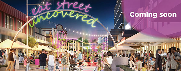 Eat Street Uncovered artist impression of what Eat Street will look like.