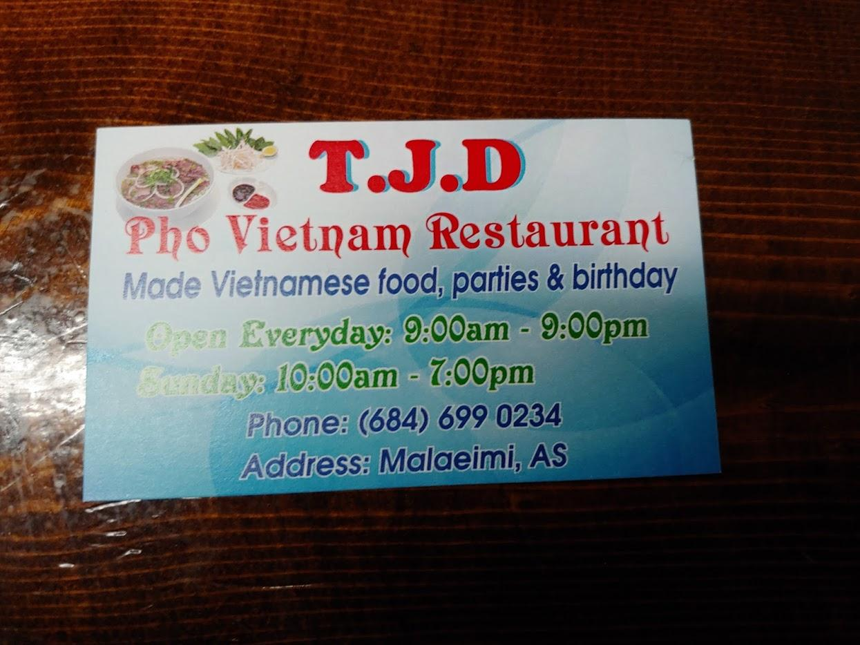 T J D - Pho Vietnamese