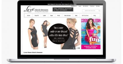 Love Black Dresses Website