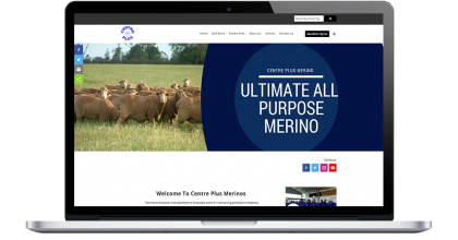 Centre Plus Drupal Website showing the homepage where users can access sheep genetic data and sale lists
