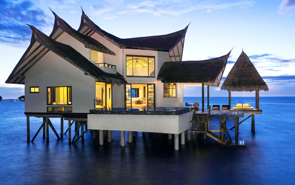 Exterior view of the Ocean Suite at Jumeirah Vittaveli, Maldives