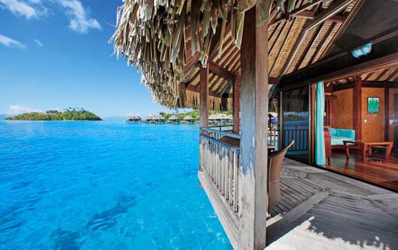 the sofitel bora bora private island resort, View from Deck of Luxury Island Over-Water Bungalow, Sofitel Bora Bora Private Island Resort