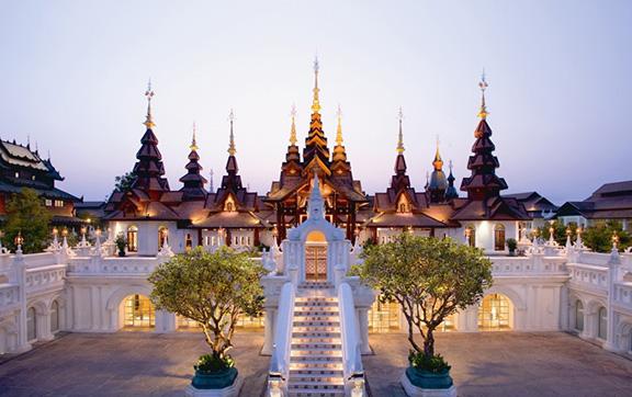 Resplendent Soaring Facades and Towers at Dara Devi Chang Mai