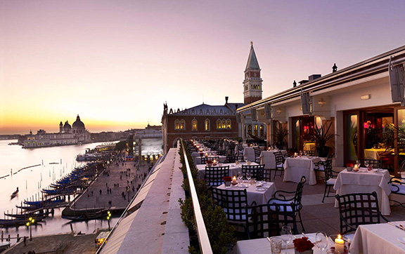 Balcony Dining at Hotel Danieli, Venice