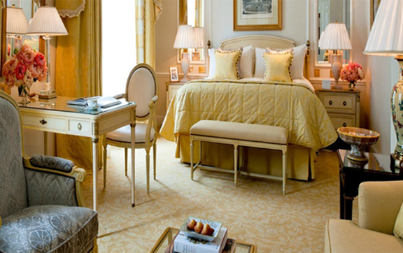 The Four Seasons Hotel George V Paris Suite Bed